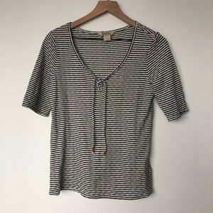 Lucky Brand Striped Short-Sleeved Top